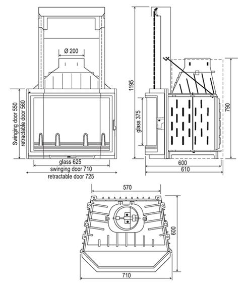 modern kandalló Székesfehérvár
