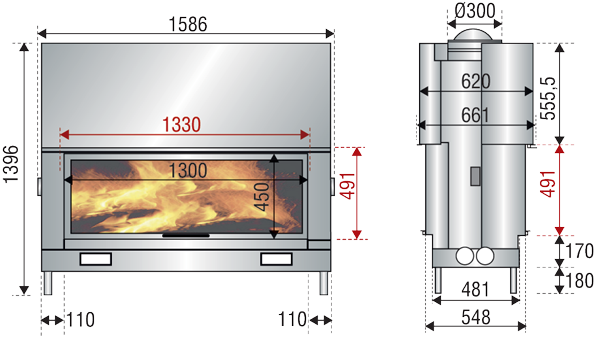 kandallo-2ajtos-df1600-rajz